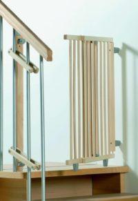 Geuther - Treppenschutzgitter für Wendeltreppe, Treppenschutz, Absperrgitter, Absperrgitter Baby, Treppenschutzgitter Test
