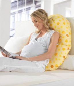 Theraline Stillkissen mit Mikroperlen - Stillkissen - Stillkissen Test - Schwangerschaftskissen und Lagerungskissen