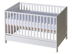Belivin® 2in1 Babybett, Gitterbett 140x70cm weiß höhenverstellbar
