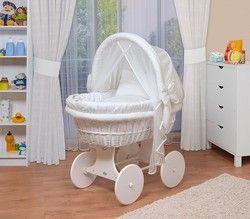 WALDIN Baby Stubenwagen-Set rollbar
