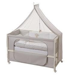 roba Roombed, Babybett 60x120 cm Modell 'Heartbreaker', Beistellbett zum Elternbett mit kompletter Ausstattung