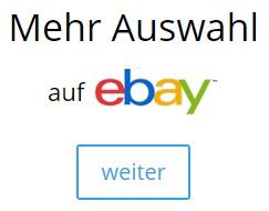 Mehr Auswahl auf ebay