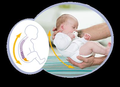natürliche Körperhaltung eines Neugeborenen