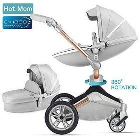 Hot Mom Kombikinderwagen 3 in 1 mit Buggy und Babywanne 2018 Design