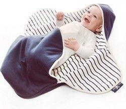 Wallaboo Einschlagdecke - kuschelweiche Babydecke