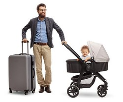 Mit Kinderwagen auf Reisen ist eine Herausforderung