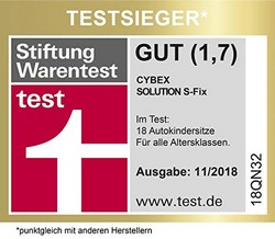 Cybex Gold Kinder-Autositz Solution S-Fix Stiftung Warentest