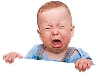 Weinendes Baby im Entwicklungsschub