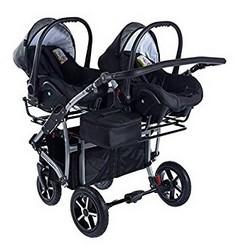 Clamaro Gemini Zwillingskinderwagen mit Babyschale