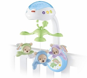 Fisher-Price 3-in-1 Traumbärchen Baby Mobile mit Halterung