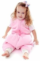 Schlummersack Schlafsack Vierjahreszeiten mit Beinen in rosa
