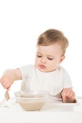 Der zweite Baby Brei mit Getreide
