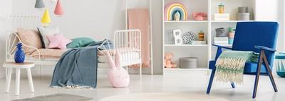 Das Kinderbett im Kinderzimmer