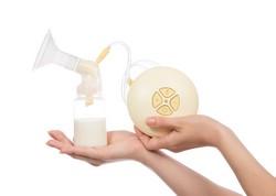 Die elektrische Milchpumpe hilft beim Entleeren