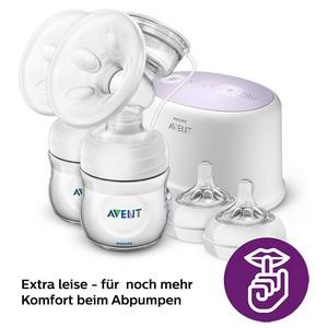 Philips AVENT SCF334 elektrische Komfort-Doppelmilchpumpe extra leise