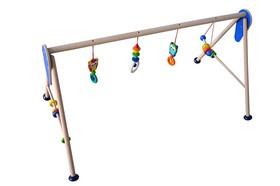 Baby Spiele Trapez für Zwillinge extra breit aus Holz