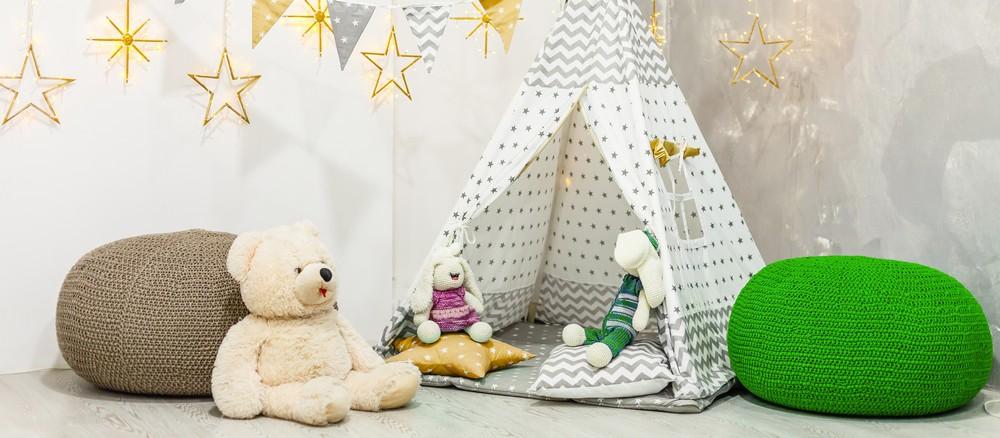 Spielhaus mit Matte little dove Tipi Spielzelt f/ür Kinder Nat/ürliches Baumwollsegeltuch,Kinderzelt