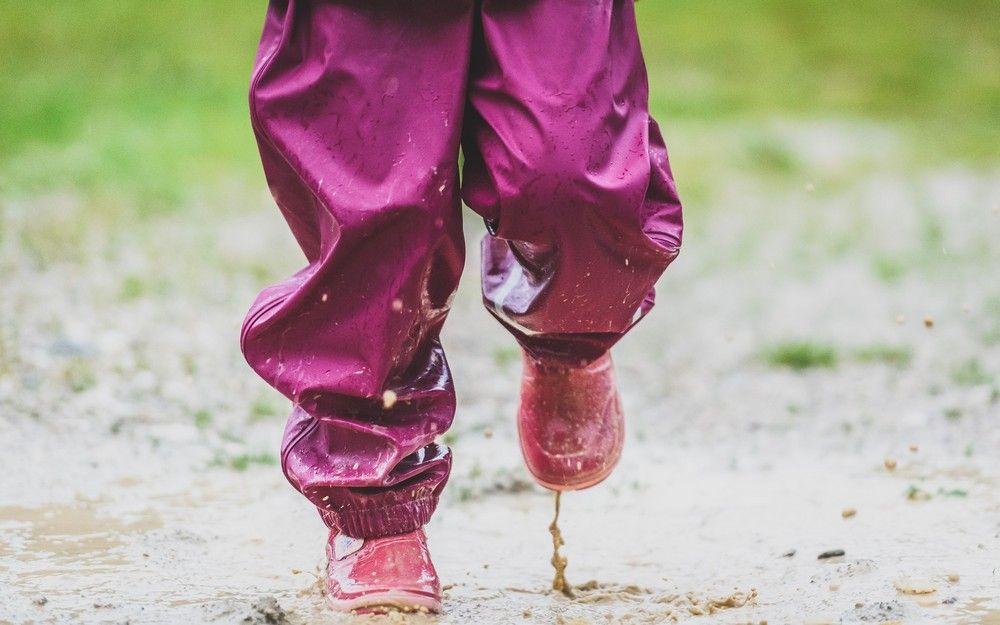 CeLaVi Hellrosa Regenhose mit Fleecefutter f/ür Kinder