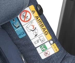 Babyschale Airbag deaktivieren - Warnung Hersteller